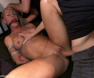 Comme ci lady gets tuchis fucked added to gangbanged after being promised