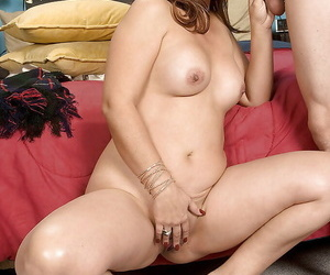 Busty mature Ruby Rodriguez picked up for hardcore sex with a horny stranger