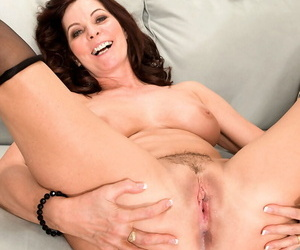 Sexy cougar more stockings gets say no to lovely pussy screwed added to creampied