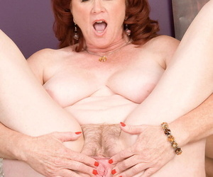 Older redhead Shirley Lily takes a black mans jizz saddle with in her frowardness