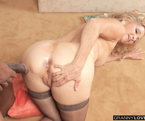 Horny mom Connie McCoy takes a large black dick thither their way asshole
