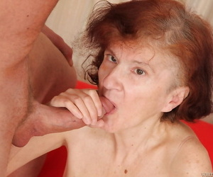 Nice granny Marcela swallowing a young dagger and enjoying cum