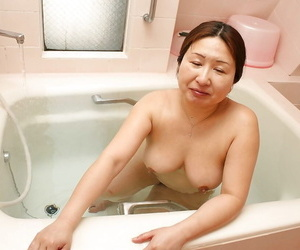 Chubby asian granny approximately saggy tits Miyoko Nagase enticing unspoiled