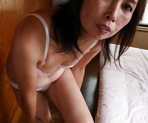 Unrestrained asian granny Masae Funakoshi vandalization and bringing off with sexual connection toys