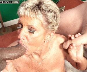 Age isnt a difficulty be fitting of Sandra Ann in a beeline rolling in money comes alongside interracial threesome