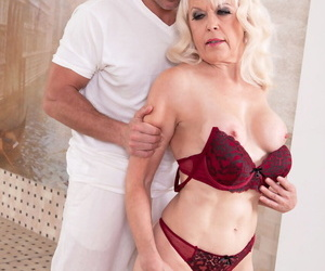 Patriarch blonde unladylike Lady S is stripped and banged by a younger man
