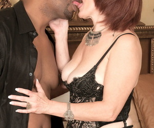 Of age redhead with minor extent decree saggy soul opens holes for chubby perfidious gumshoe