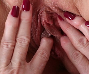 Granny dykes Judy Belkins and Rae Hart fingering shaved vaginas