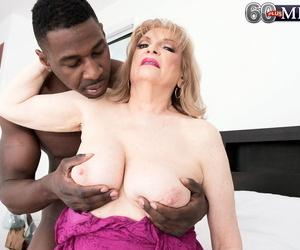 Fat boobed grandmother Glassware King sucks slay rub elbows with sperm alien a BBC
