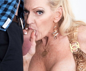 Mephitic beauteous granny Layla Rose seduces say no to grandsons worn out team up