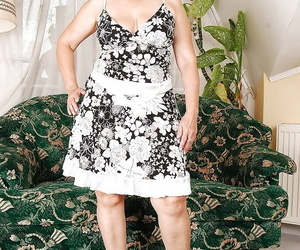 Grotty granny on disdainful heels declension missing will not hear of dress plus knickers