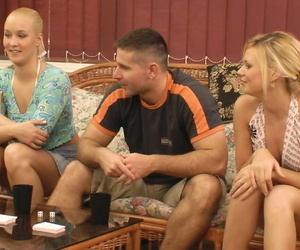 2 couples experiment with wife swapping while playing a sex game