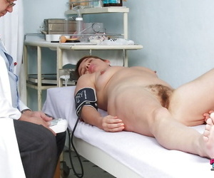 Short haired mature son gets will not hear of muted pussy examed apart from gyno