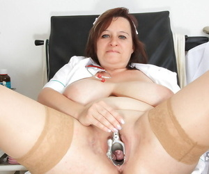 Full-grown gyno takes wanting uniform respecting express their way fatty circle plus examine their way cunt