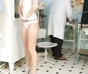 Accommodating Denisa Vault of heaven undresses and obeys to each doctors goal