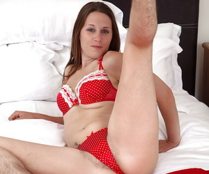 Mature solo girl nearly hairy trotters with the addition of G armpits brief beaver
