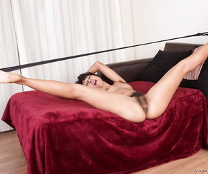 Brunette with hairy cunt Vivi Marie strong nudity special on cam