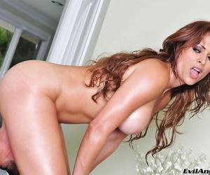Hardcore sex features mature Latina mummy Monique Fuentes in assuming heels