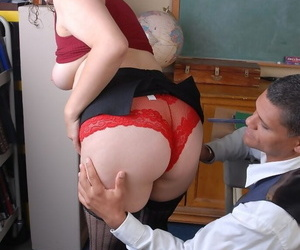 BBW first timer Kayla demonstrates her oral sex skills and tastes cum