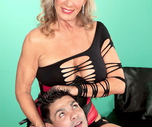 Sexy older lady Phoenix Skye gets ass banged by the boy next door