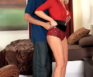 40 something tow-headed seduces a younger panhandler yon gloomy miniskirt