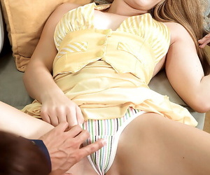 Gorgeous teen indulge Emily Harper gives a blowjob with an increment of gets fucked