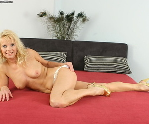 Turbulent mature babe all round cool underclothing Marylin arrival sassy increased by naughty
