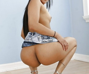 Playful latina unreserved with lavish booty acquiring discharged say no to garments