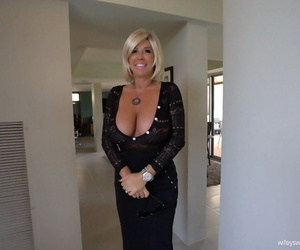 Big boobed housewife Sandra Otterson pleasures her husband in POV mode