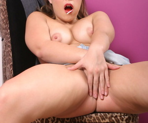 Brunette female Katie Thomas goes 1 on 1 with the biggest black cock