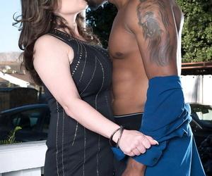 Horny mature woman Ciara Ryder seduces a funereal man with a panty piece