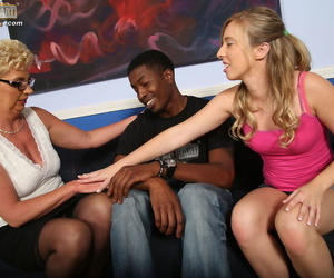 MILF Taylor Lynn fucks a black stud with her sexy stepdaughter Sofie Carter