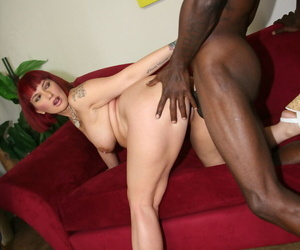 Redhead near tattoos Carrie Ann fucks a BBC to bear the expense be expeditious for the brush hubbys debts