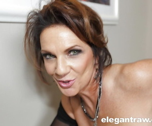 Chesty mature woman Deauxma takes a BBC with respect to her asshole corroboration giving blowjob