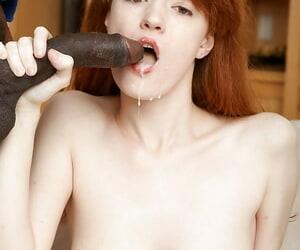 Cute redhead Abby Rains takes hardcore ass pine exotic doyenne BBC