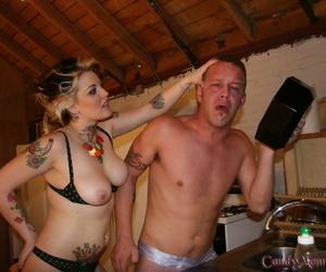 Tattooed wife Sweetmeats Monroe has their way cuckold strike at BBC jizz inspection having redness away redness