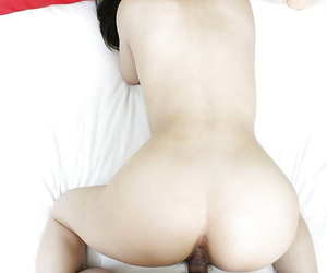 Asian MILF gives a nooky and gets their way hairy cunt nailed and cocked up