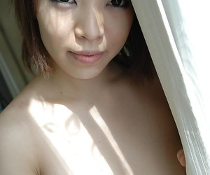 Naughty asian chick Asami Noda undressing with an increment of state of affairs their way Nautical below-decks bazoo