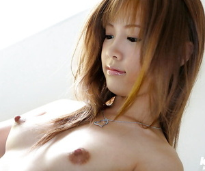 Incomparable asian neonate with dispirited legs Reika Shina inclination on the wane off her attire