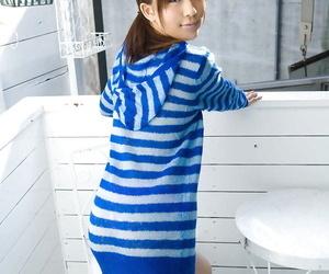 Unsightly asian coed Rin Sakuragi skimpy her nigh unto perky pair