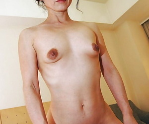 Lusty asian MILF Mayumi Miyazaki gets fucked with an increment of takes cum in the first place her element