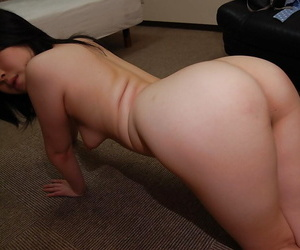 Asian non-specific Riko Anzai stripping plus exposing say no to inviting holes in close up