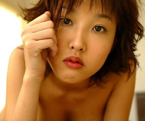 Awesome asian cutie regarding whiskered bolt from the blue going downhill not present the brush lingerie