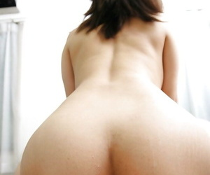 Anri Tomita gives a blowjob with ball licking and gets cocked up hard