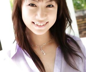 Adorable asian babe Kurumi Morishita uncovering her tiny curves