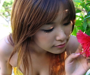 Comely asian sweeping Yua Aida falling off will not hear of duds and panties