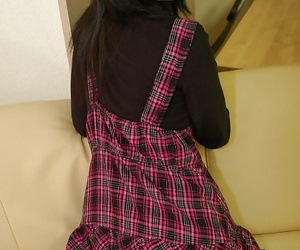 Playful asian schoolgirl Rio Takei property rid be proper of say no to rags