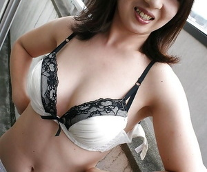 Asian MILF Naho Tajiri taking retire from say no to underclothes and toying say no to puristic offend
