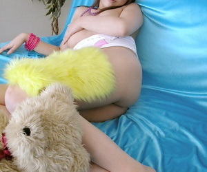 Lovely asian doll invention her rich brighten jugs coupled with pretty missing her camiknickers