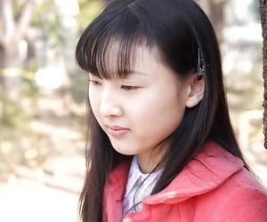 Lusty asian schoolgirl Youko Sasaoka slipping off her uniform